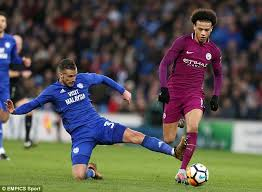 Challenge Injury City Confirm Sane Sustained Ankle Ligament Damage Daily Mail