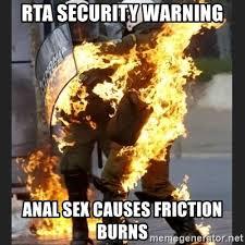 Anal Sex Meme - rta security warning anal sex causes friction burns greek cop