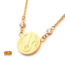 pendant necklace chain length images Star wars gold ip jedi symbol pendant necklace jpg