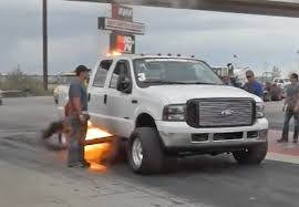 Ford Diesel Truck 2016 - watch this massive exhaust backfire on a 1 000 hp diesel drag truck