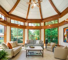 octagon room sunroom transitional with square coffee table plastic