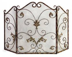 modern iron fireplace screens with decorative wrought iron