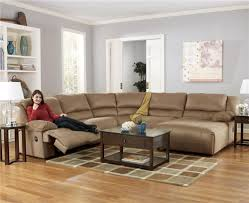 Oversized Couches Living Room Signature Design By Ashley Hogan Mocha 5 Piece Motion Sectional