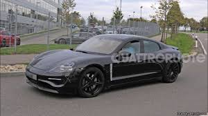 electric porsche panamera 2019 porsche mission e electric car spy shots youtube