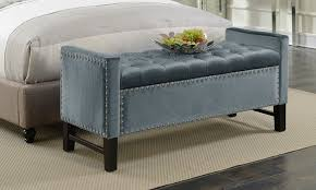 Decorative Bench With Storage Marcus Velvet Button Tufted Storage Bench With Decorative