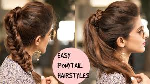 ponytail hairstyles for easy braided ponytail hairstyles for college school work pouf