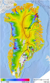 Map Of The Northeast Unrecognized Rapid Ice Loss In Northeast Greenland Due To Warming
