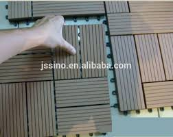 easy to install wood deck tiles cheap price wpc interlocking
