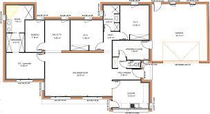 plan de maison plain pied 4 chambres avec garage plan maison plain pied 4 chambres en u madame ki de