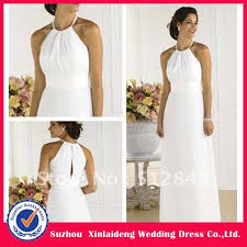 civil wedding dress yd 12061192 lovely white necklace halter chiffon civil wedding