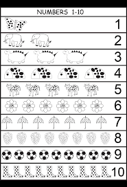 numbers 1 10 worksheets kindergarten u0026 common worksheets writing