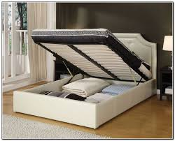 queen size platform bed frame with storage for alluring best 25