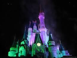 disney world castle at night halloween desktop background