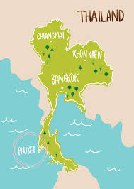 Phuket Map Phuket Thiland Map Tropout