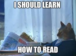 How To Read Meme - i should buy a boat cat meme imgflip