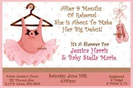 How To Make Baby Shower Invitation Cards Free Ballerina Baby Shower Invitations Templates Invitations