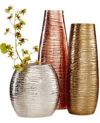 metallic home decor simply designz metallic vases collection bowls u0026 vases for the