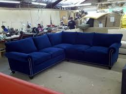 Blue Velvet Sectional Sofa The Most Awesome Blue Velvet Sectional Sofa For Found House