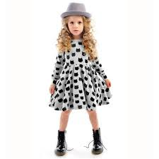 winter autumn spring dress animal print kids clothes 2016
