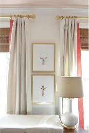 Yellow Nursery Curtains Nursery Curtains Pink Coral Curtains Trimmed Drapes Curtains With