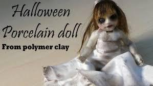 halloween figurine halloween u0027cute u0027 porcelain doll figurine polymer clay tutorial