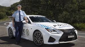 lexus rc coupe ad australia u0027s nsw police gets a lexus rc f cruiser