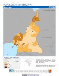 Map Of Cameroon Maps Population Density Grid V1 Sedac