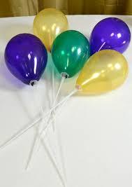 balloon sticks party ideas by mardi gras outlet air filled balloon centerpieces