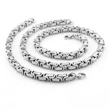 steel necklace wholesale images Chain necklace for men necklace and bracelet jewelry sets 316l jpg