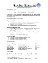 Banking Resume Objective Entry Level Chic Design Resume Objective For Entry Level 13 20 Examples Cv