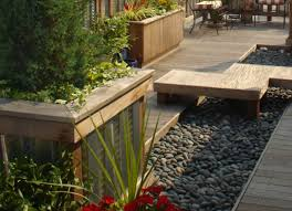 Deck Planters And Benches - roof deck zen garden built in planters and benches home style