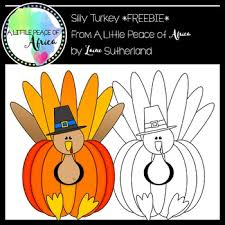 a totally silly thanksgiving turkey freebie by a peace of