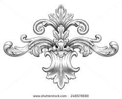 baroque ornament in style free vector