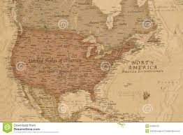 North America Political Map by Ancient Geographic Map Of North America Stock Photo Image 54358732