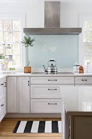 white kitchen glass backsplash blue glass backsplash kitchen remodel ideas
