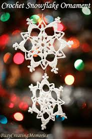 crochet snowflake ornament pattern