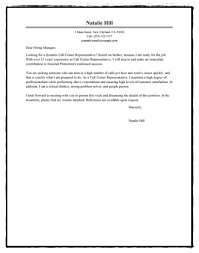 call center customer service sample short cover letter template to