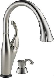 kitchen faucet amazon delta faucet 9192t sssd dst single handle pull