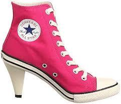 Converse High Heels Nib Converse All Star Heel Hi High Heel Sneaker Pink Ladies Shoes