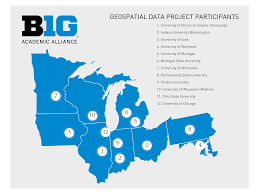 State Of Michigan Map by Big Ten Academic Alliance Geoportal
