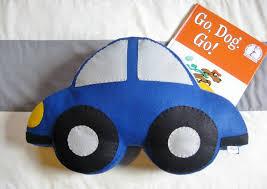car nursery decor large felt toddler pillow kids