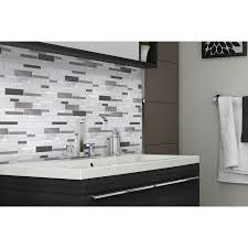 mineral tiles aluminum glass tile backsplash ice blend 18 95