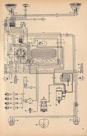 wiring diagram vw beetle sedan and convertible 1961 1965 vw