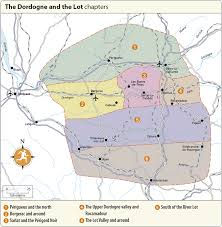 Dordogne France Map by Rg B Format