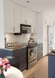 white cabinets on top blue on bottom trending lower kitchen cabinets the decorologist
