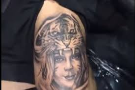 tattoo back face midnight mania cody garbrandt gets tattoo of his wife s face in a