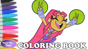 teen titans go starfire coloring book pages teen titans go