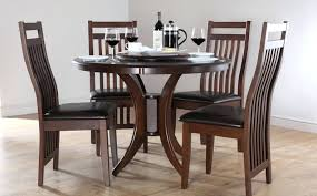 Dining Room Sets Orlando by Dining Table Round Wood Dining Table With Leather Chairs Round