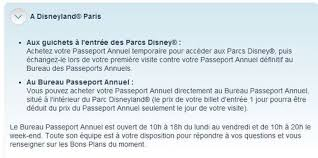 bureau passeport annuel disney telephone disneyland hints tips hi i called the dlp guest