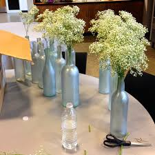 diy why spend more painted wine bottles for centerpieces